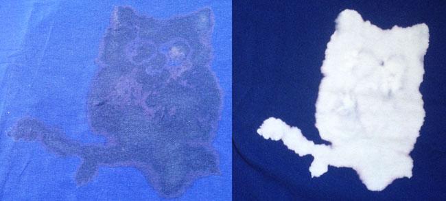 t-shirt DIY bleek