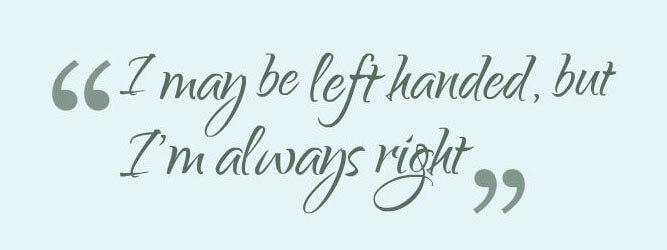 quote linkshandig