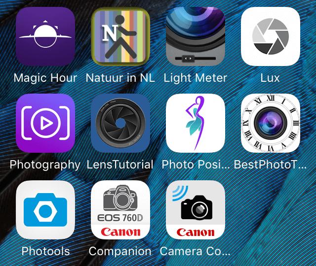 apps voor fotografen