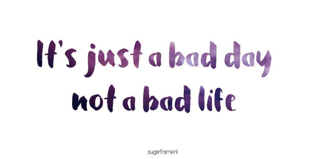slechte dag chronisch ziek
