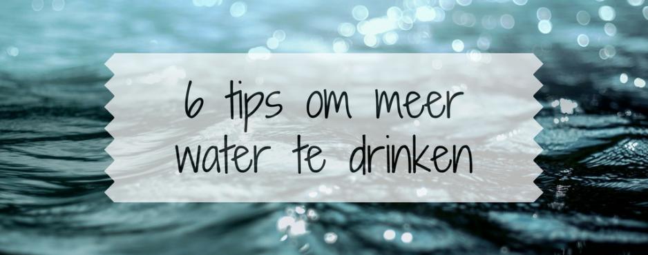 hoeveel liter water per dag drinken om af te vallen