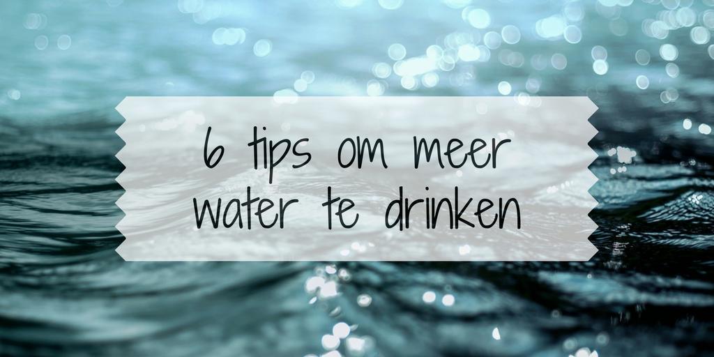 6 tips om meer water te drinken