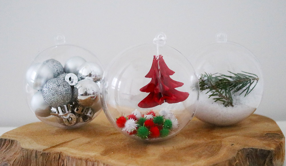 zelf kerstballen maken met plastic bollen – sugarframe