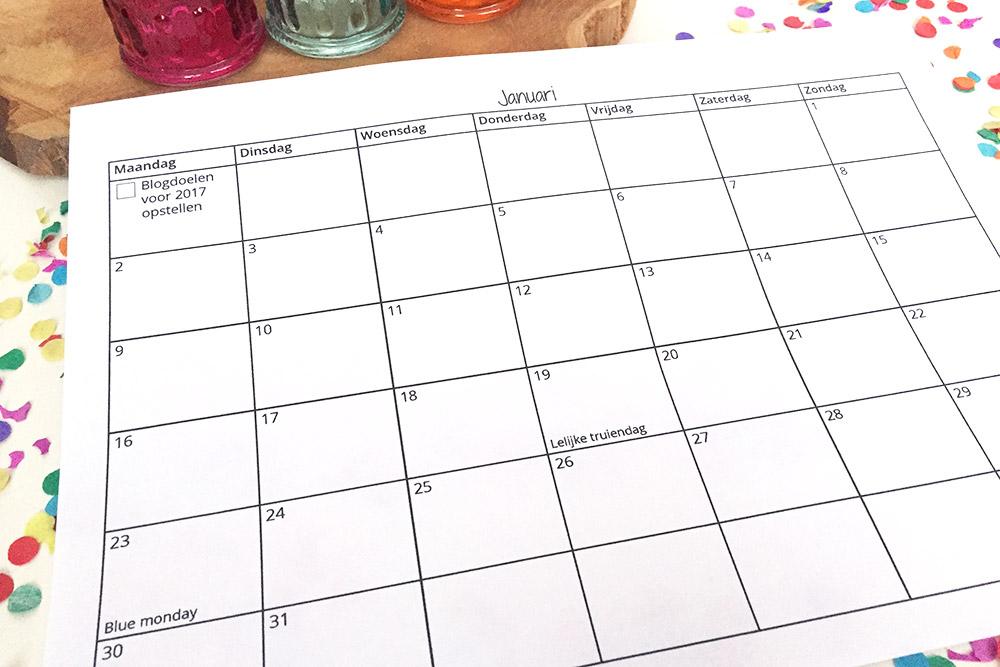 kalenderblogplanner