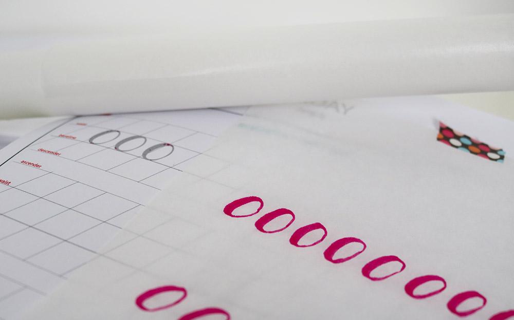 overtrekpapier-handlettering